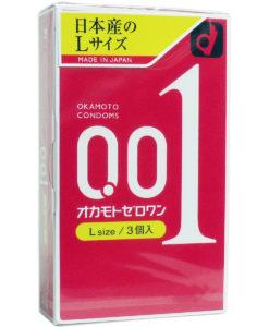 Okamoto 0.01 Zero One Large Size Condom 3pcs