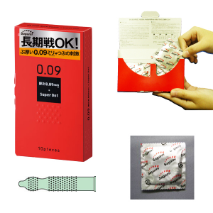 Sagami 0.09 Super Dot Condom for Long Play 10pcs