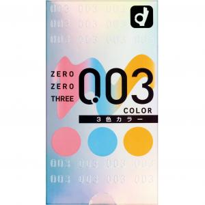 Okamoto 003 Color Condom 12pcs [3 Colors]