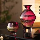 Edo Glass Red 'Tumbler' Edo Glass Red 'On the Rocks'