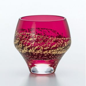 Edo Glass Red 'On the Rocks'