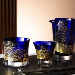 Edo Glass Blue Tumbler Edo Glass Blue On the Rocks