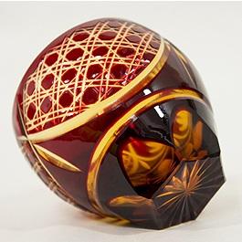 Saika Kiriko Glass Tumbler Round RED