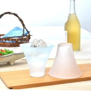 Mt. Fuji Glass Tumbler Frost Pair Set