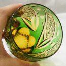 Saika Kiriko Glass Tumbler Round GREEN