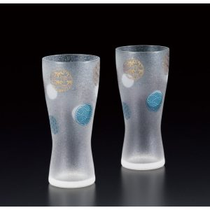 Premium Beer Glass Round Crest 2pc