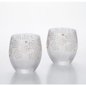 Premium Glass Cup Sakura 2pc