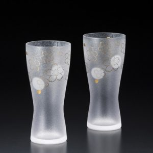 Premium Beer Glass Sakura 2pc