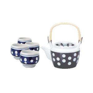 Mizutama Polka Dot Japanese Tea Set