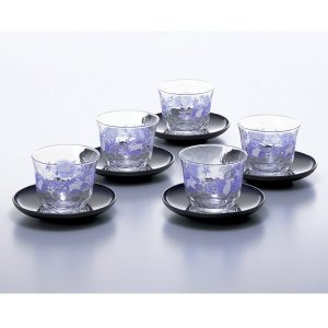Navy Rabbit Cold Japanese Tea Cup Set