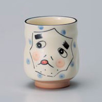 Hyottoko Yunomi Japanese Tea Cup 4pcs
