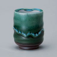 Green Nagashi Yunomi Japanese Tea Cup