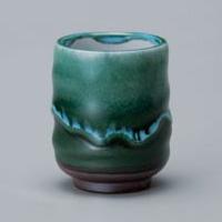 Green Nagashi Yunomi Japanese Tea Cup