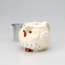 White Owl Green Tea Pot