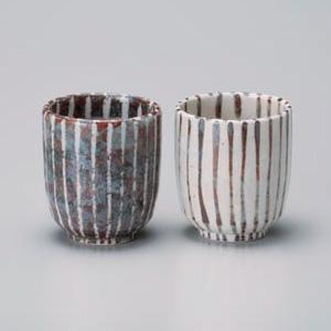 Shino Pair Yunomi Tea Cup