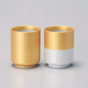 Kinsai Gold Pair Yunomi Tea Cup