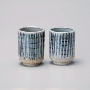 Hoso Togusa Pair Yunomi Tea Cup