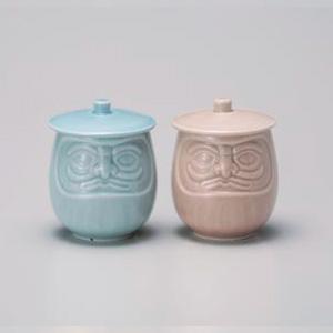 Daruma Pair Lid Yunomi Tea Cup