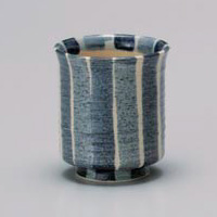 Blue Tokusa Yunomi Japanese Tea Cup