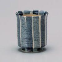 Blue Tokusa Yunomi Japanese Tea Cup