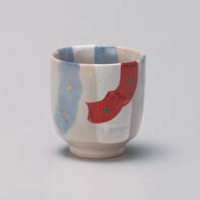 Akae Shino Yunomi Japanese Tea Cup