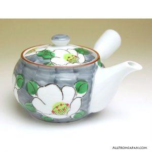 White Flower Japanese Tea Set