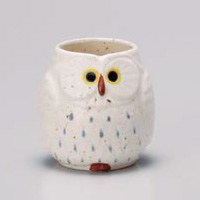 White Owl Yunomi Japanese Tea Cup