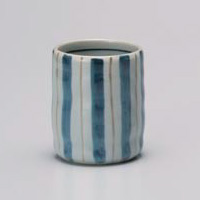 Two-color Tokusa Yunomi Japanese Tea Cup