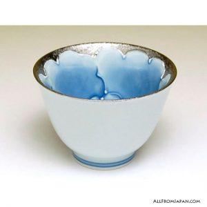 Platinum Peony Japanese Tea Set