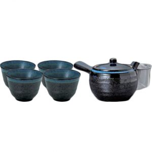 Kuro Suisho Japanese Tea Set