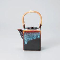 Tenmoku Cubic Dobin Tea Pot