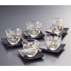 Shidare Sakura Cold Japanese Tea Cup Set