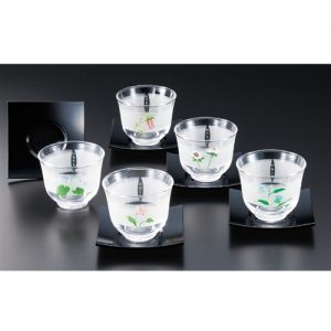 Edo Yuzen Cold Japanese Tea Cup Set
