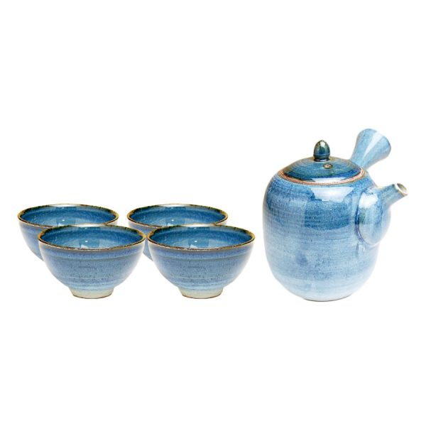 Ai Navy Japanese Tea Set