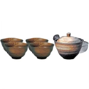 Kurobizen Japanese Tea Set