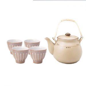 Charcoal Dot Dobin Japanese Tea Set