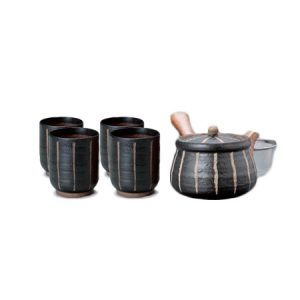 Hori Togusa Black Japanese Tea Set