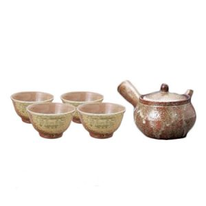 Shigaraki Kamahen Japanese Tea Set