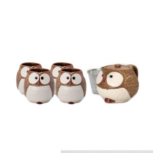 Brown Owl Japanese Tea Set