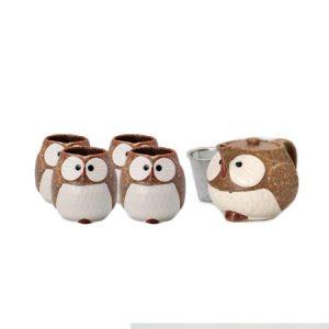 Brown Owl Japanese Tea Set