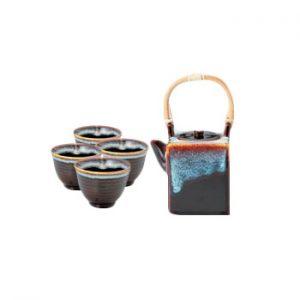 Tenmoku Cubic Japanese Tea Set