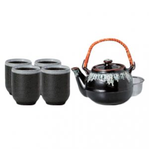 Yuzu Tenmoku Japanese Tea Set
