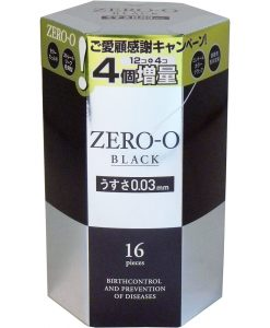 Fuji Latex Rincle zero zero Black 0.03 condom 12+4pcs