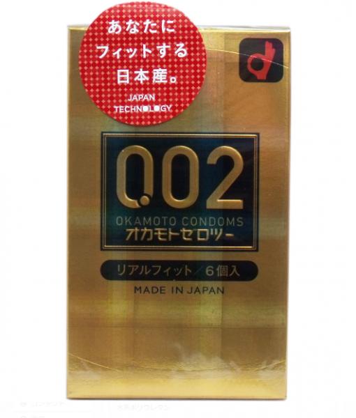 Okamoto 002 Real Fit Condom 6pcs